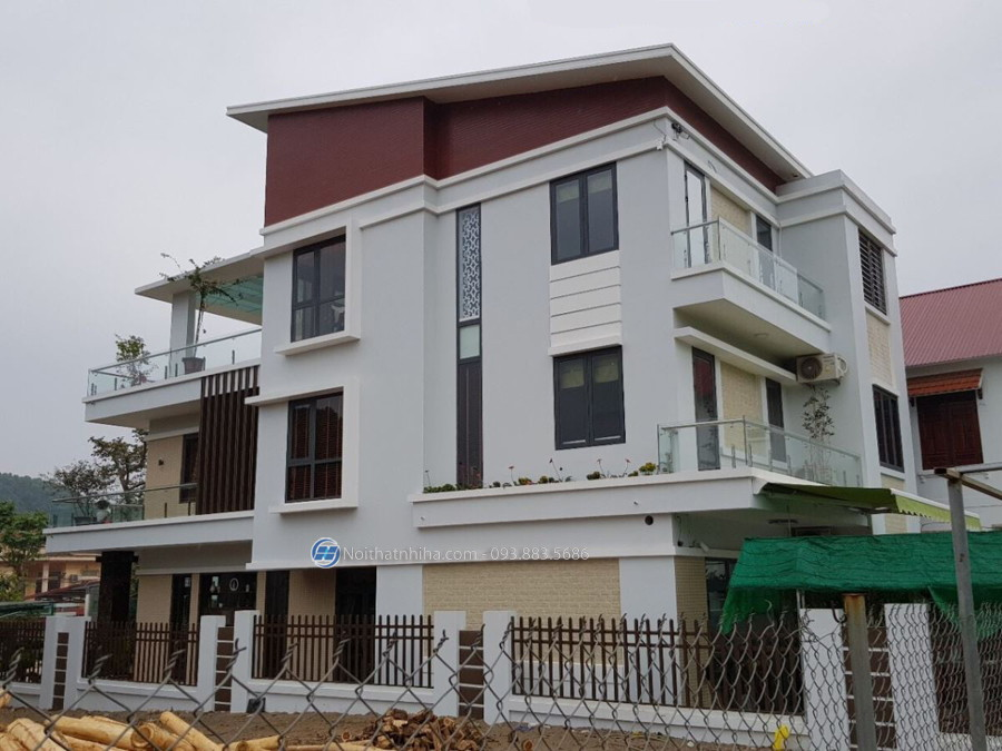 Biệt thự tại Phú Thọ sử dụng cửa nhôm Hyundai