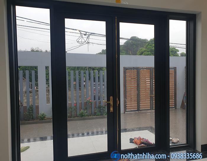 cửa nhôm hyundai 2 cánh mở quay
