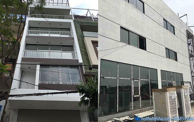 Công trình lắp cửa đi, cửa sổ mở hất nhôm Xingfa chính hãng nhập khẩu