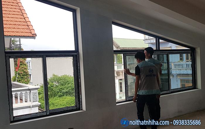cửa sổ lùa 2 cánh nhôm hyundai