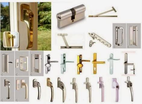 Các loại phụ kiện cửa nhôm kính