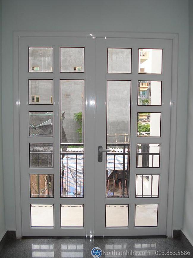 Mẫu cửa đi nhôm kính 2 cánh - 16