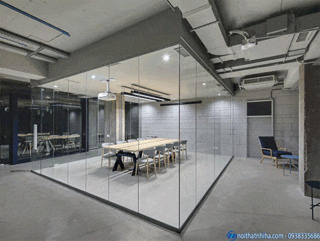 Kính điện thông minh ứng dụng làm vách ngăn văn phòng