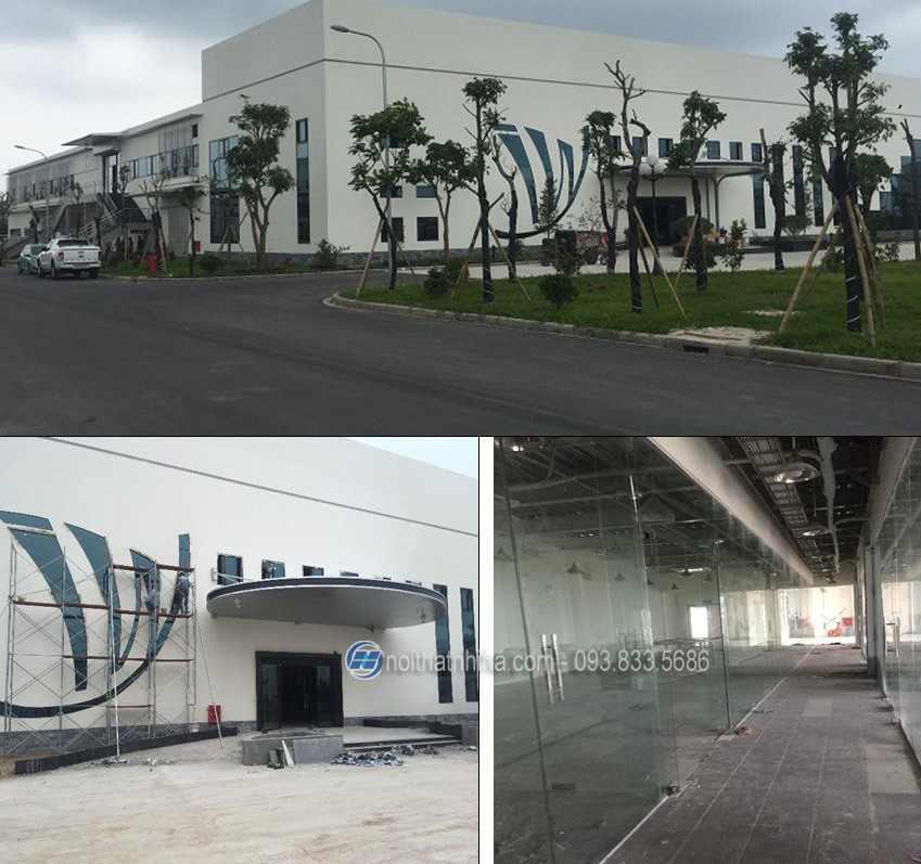 dự án lắp đặt cửa kính thủy lực công trình ivy-hưng yên-1