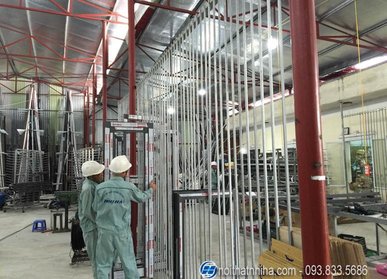 xưởng sản xuất cửa nhôm kính
