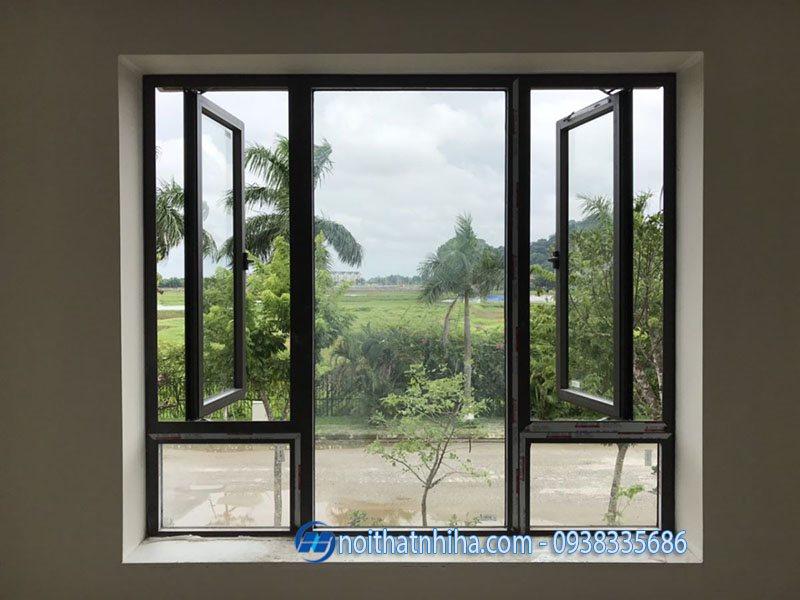 Cửa sổ mở quay nhôm Xingfa đẹp