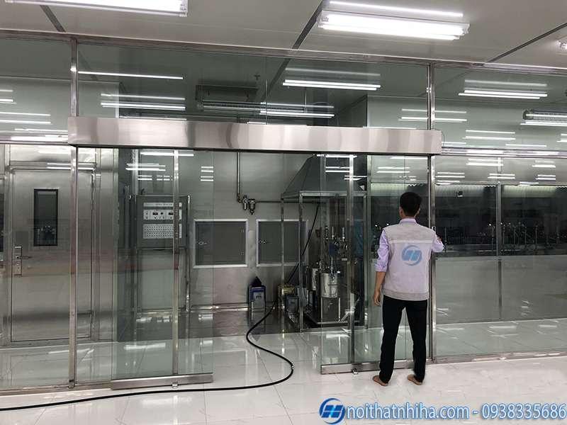 lắp đặt cửa tự động cho phòng sạch