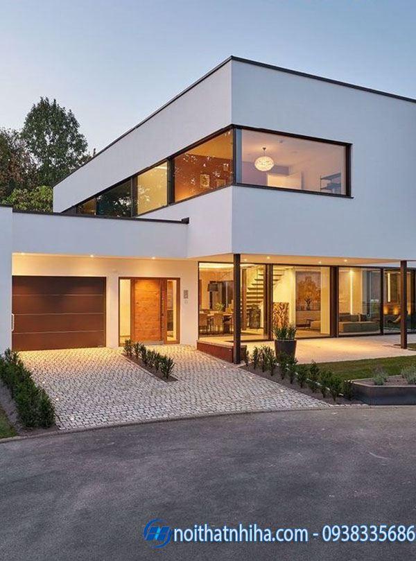 Cửa chính nhôm xingfa cho ngôi nhà có tầm nhìn bao quát
