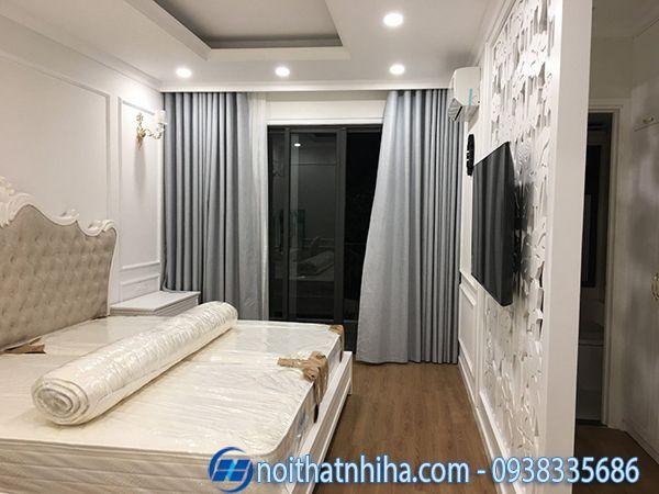 Cửa nhôm xingfa màu xám ghi mở trượt phòng ngủ
