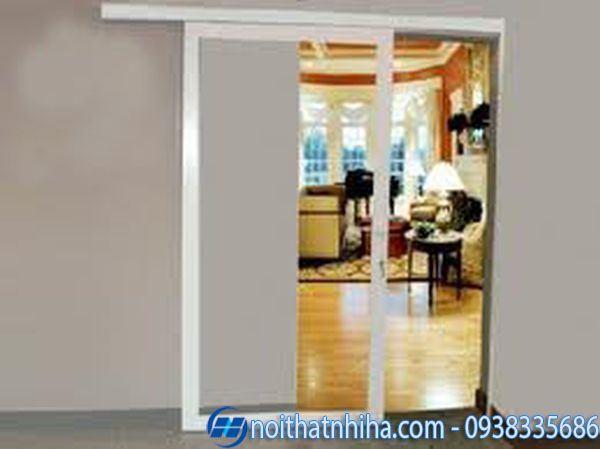 Cửa lùa nhôm 1 cánh cho khung cửa hẹp