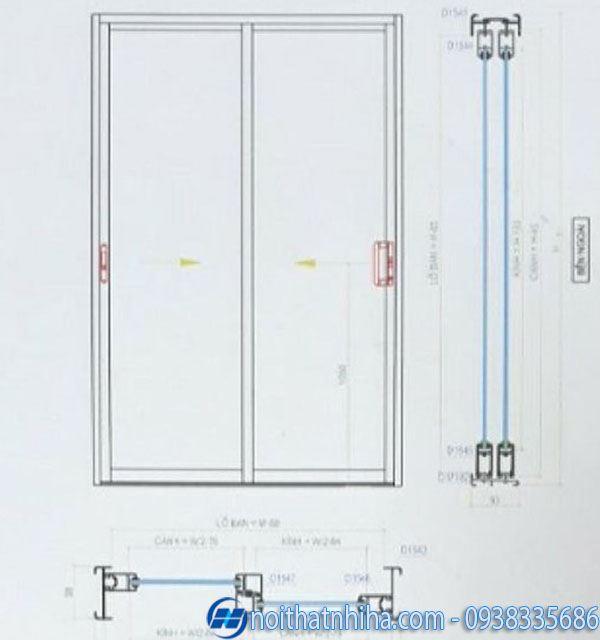 cửa chính nhôm xingfa - Cấu tạo cửa nhôm xingfa mở trượt