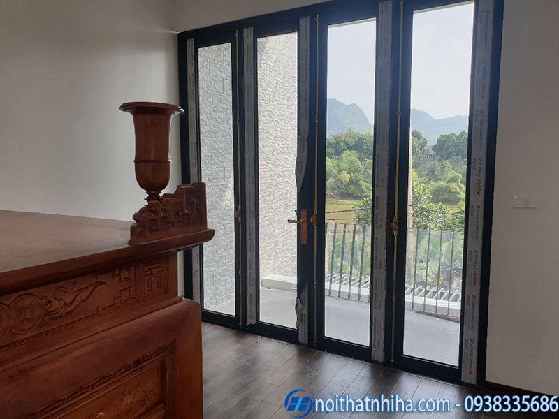 Nhị Hà lắp cửa kính giá rẻ cho công trình nhà dân
