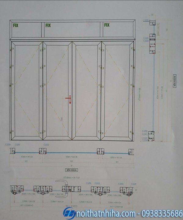 Cửa chính nhôm xingfa - Cấu tạo cửa mở quay hệ 55