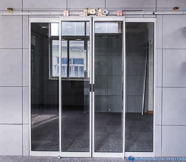 Thiết kế cửa lùa tự động Nitto đơn giản