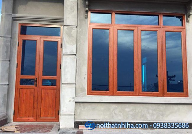 Cửa sổ nhôm Việt Pháp thiết kế vòm