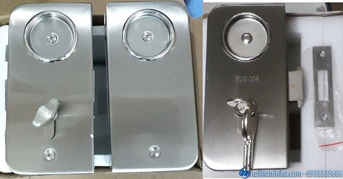 các loại khóa cửa kính cường lực cao cấp-1