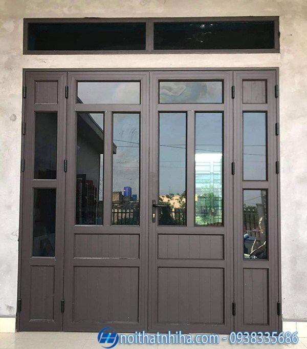 cửa nhôm xingfa màu cà phê