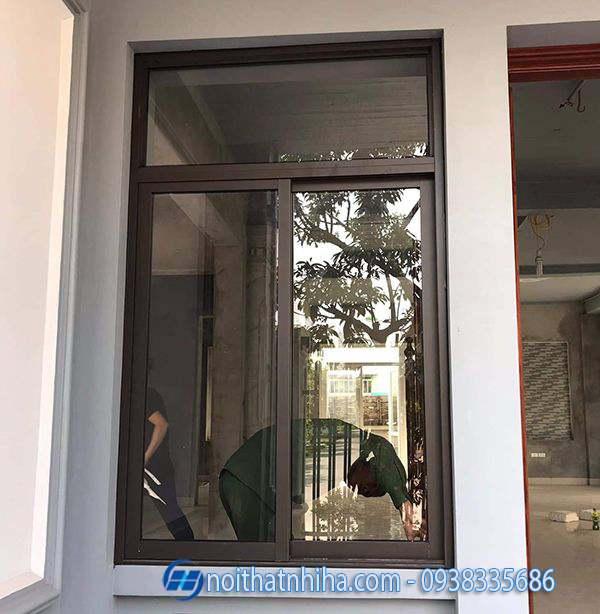 cửa nhôm xingfa màu cà phê-22