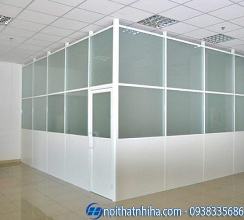 cửa, vách nhôm kính văn phòng