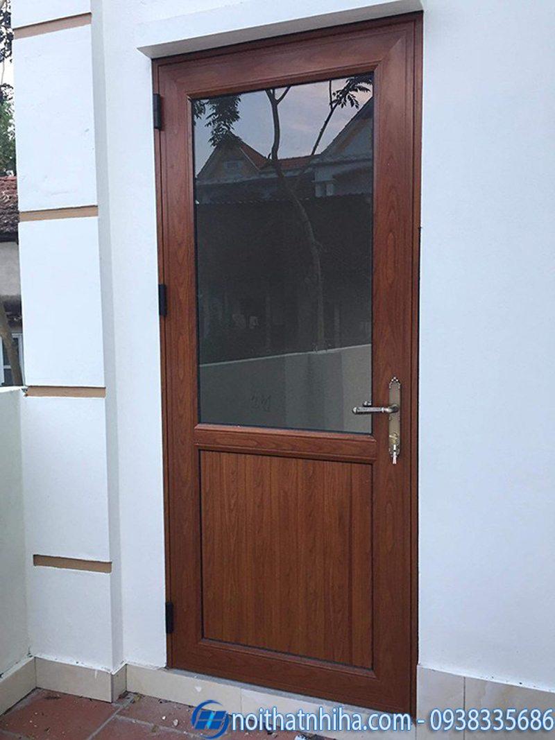 cửa nhôm vân gỗ đông á-3