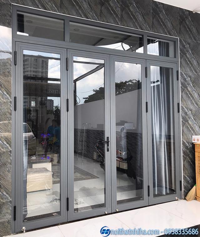 Mẫu cửa nhôm xingfa 4 cánh đẹp thiết kế mở quay