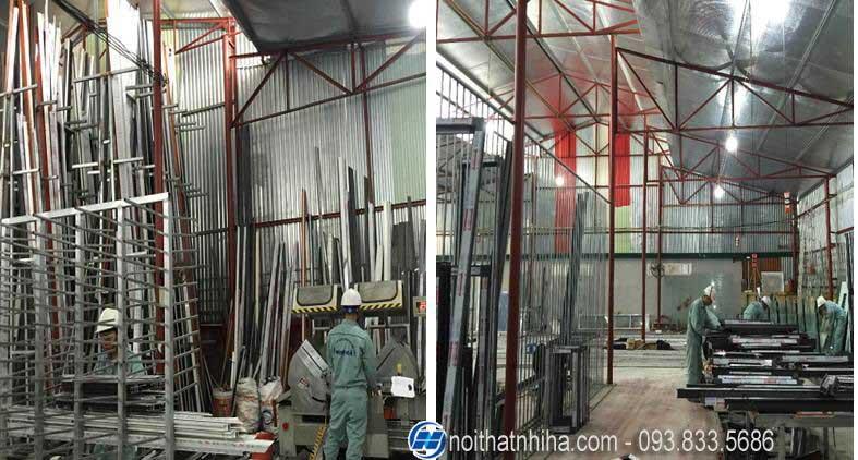quy trình sản xuất cửa nhôm kính-1