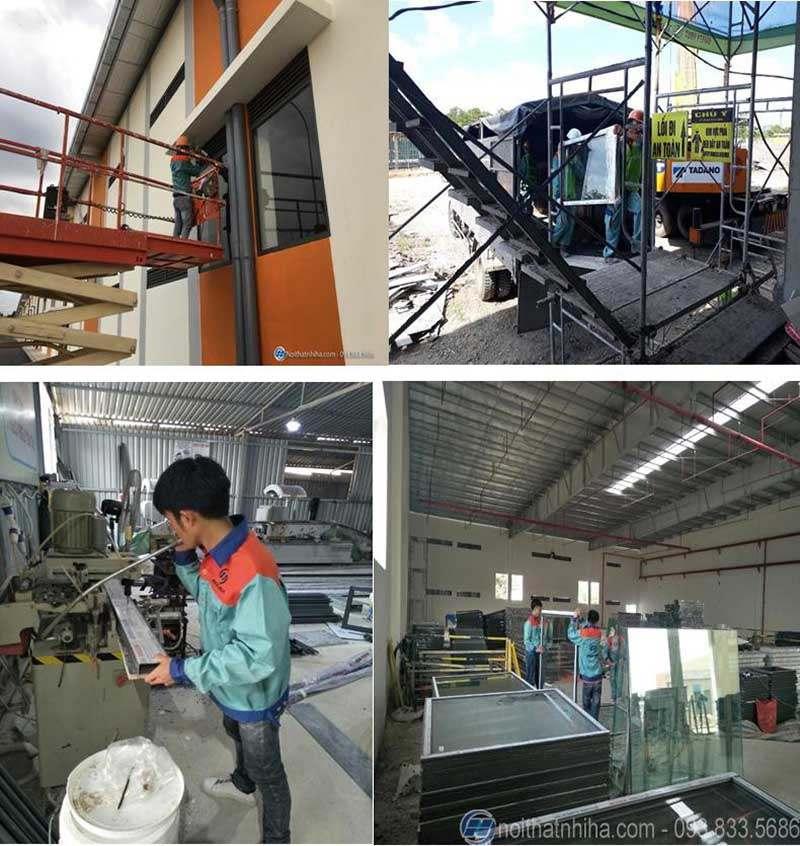 quy trình sản xuất cửa nhôm kính-9