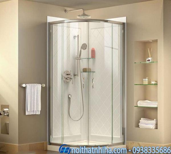 Vách kính phòng tắm nhỏ đẹp tiết kiệm diện tích