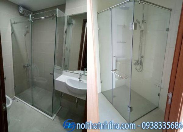 Vách kính phòng tắm 90 độ