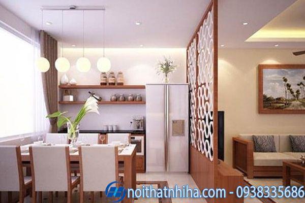 Các kiểu vách ngăn phòng khách và bếp gỗ công nghiệp mang đến vẻ đẹp vừa hiện đại vừa cổ điển