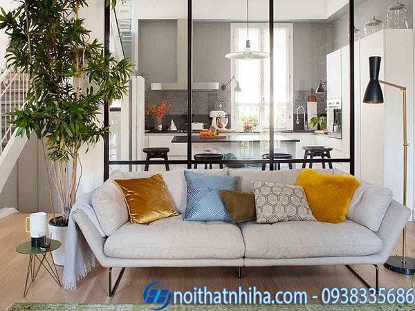Các kiểu vách ngăn phòng khách và bếp đẹp hiện đại