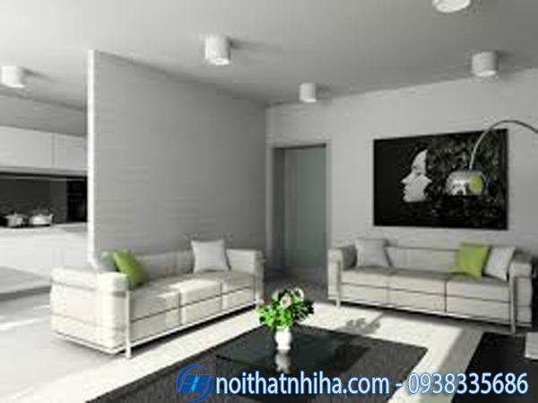 Các kiểu vách ngăn phòng khách và bếp thạch cao đẹp