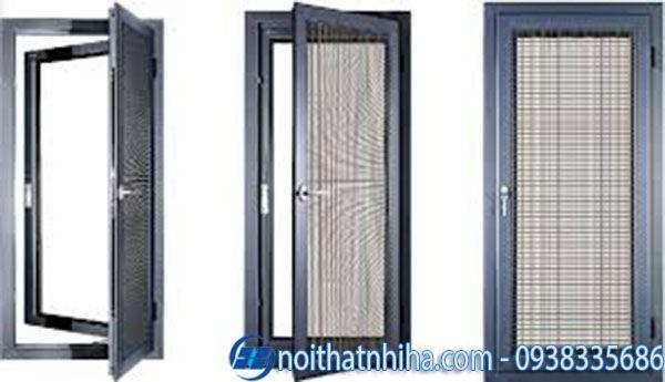 Các loại nhôm làm cửa - Mẫu cửa sổ nhôm Hopo kết hợp lưới chống côn trùng