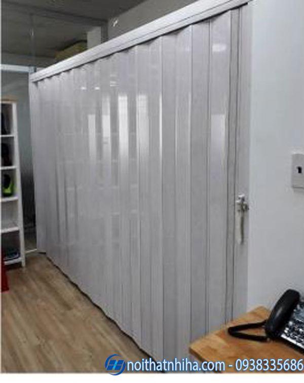 Vách ngăn di động phòng ngủ nhựa xếp
