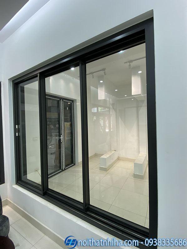 Các loại nhôm làm cửa - Mẫu cửa sổ mở trượt nhôm cao cấp Hopo