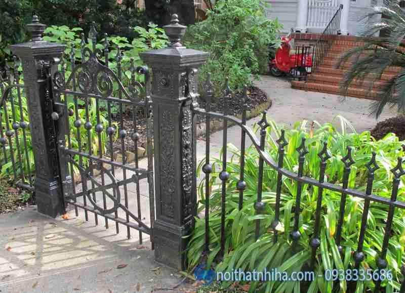 cổng hàng rào sắt đẹp-1