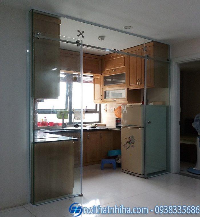 cửa kính lùa phòng bếp
