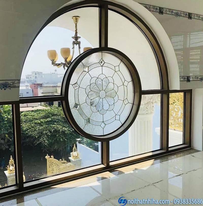 cửa vòm nhôm kính