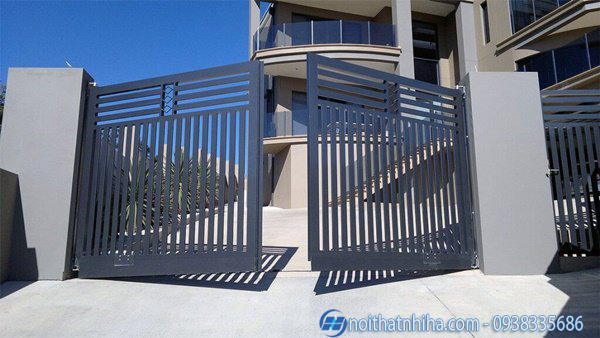 mẫu cửa cổng sắt hộp