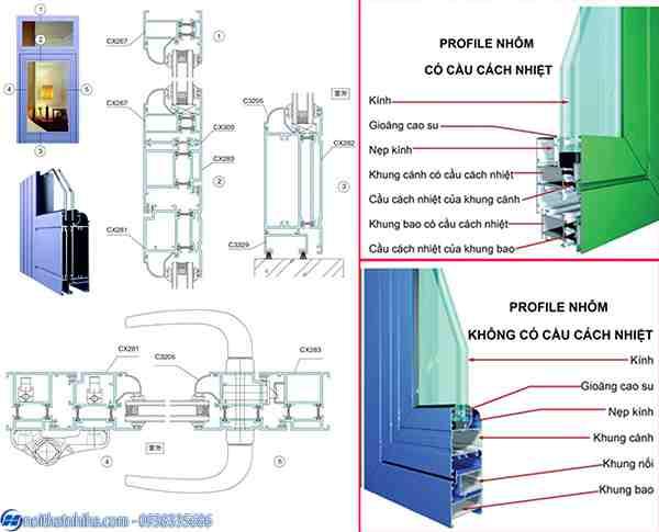 Báo giá Cửa nhôm cầu cách nhiệt Xingfa, PMI, HMA chính hãng nhập khẩu