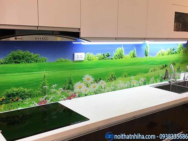 Tranh kính 3D trang trí phòng bếp