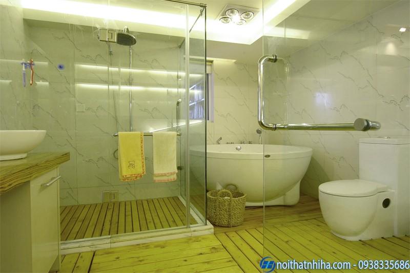 vách kính nhà tắm cửa lùa-1