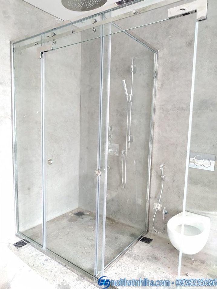 vách kính nhà tắm cửa lùa-2