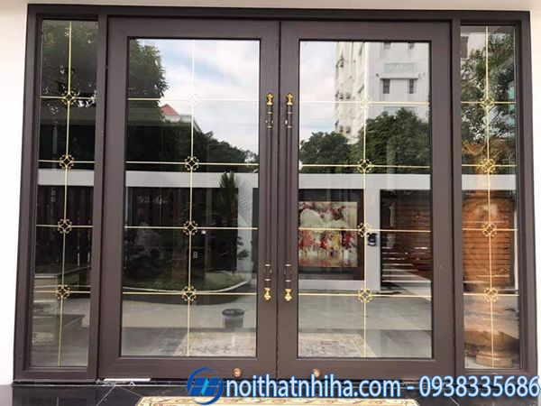 Mẫu cửa đi chính kính hộp cách âm cách nhiệt