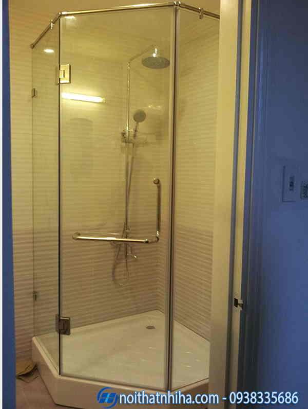Phòng tắm kính vát mẫu 2