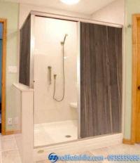 Vách ngăn phòng tắm nhựa giả gỗ