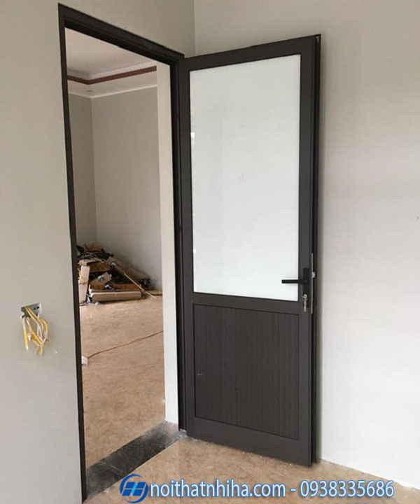 Cửa nhôm kính 1 cánh phòng ngủ dạng pano