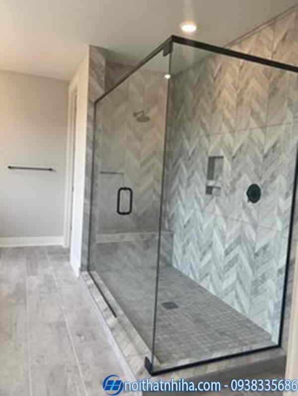 Phòng tắm kính vuông 90 độ