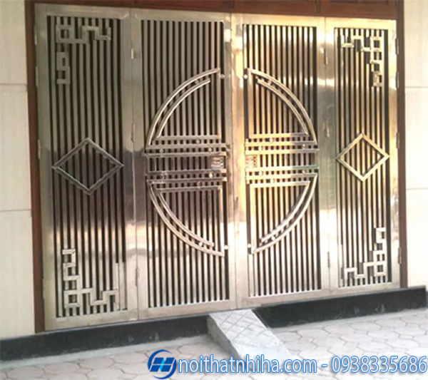 Mẫu cửa inox 304 an toàn và tinh tế