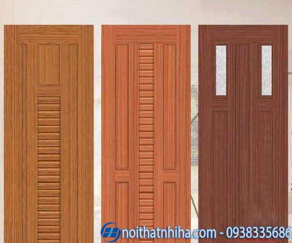 Cửa nhôm giả gỗ 1 cánh dùng làm cửa thông phòng